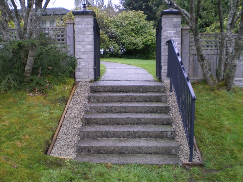 Stairway entrance to a resident Qualicum Beach